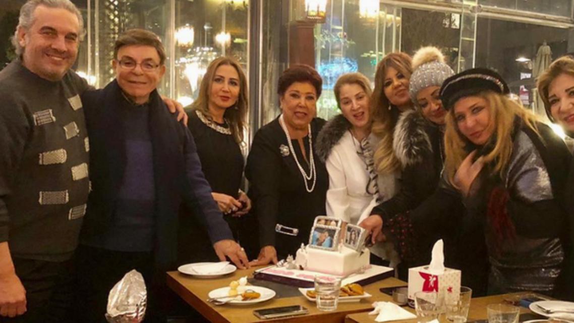 سهير رمزي في احتفالها بعيدها