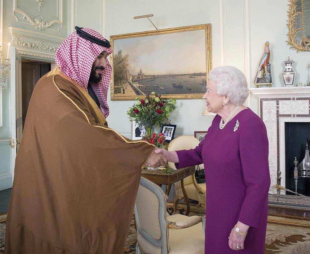 الأمير محمد بن سلمان يلتقي ملكة بريطانيا