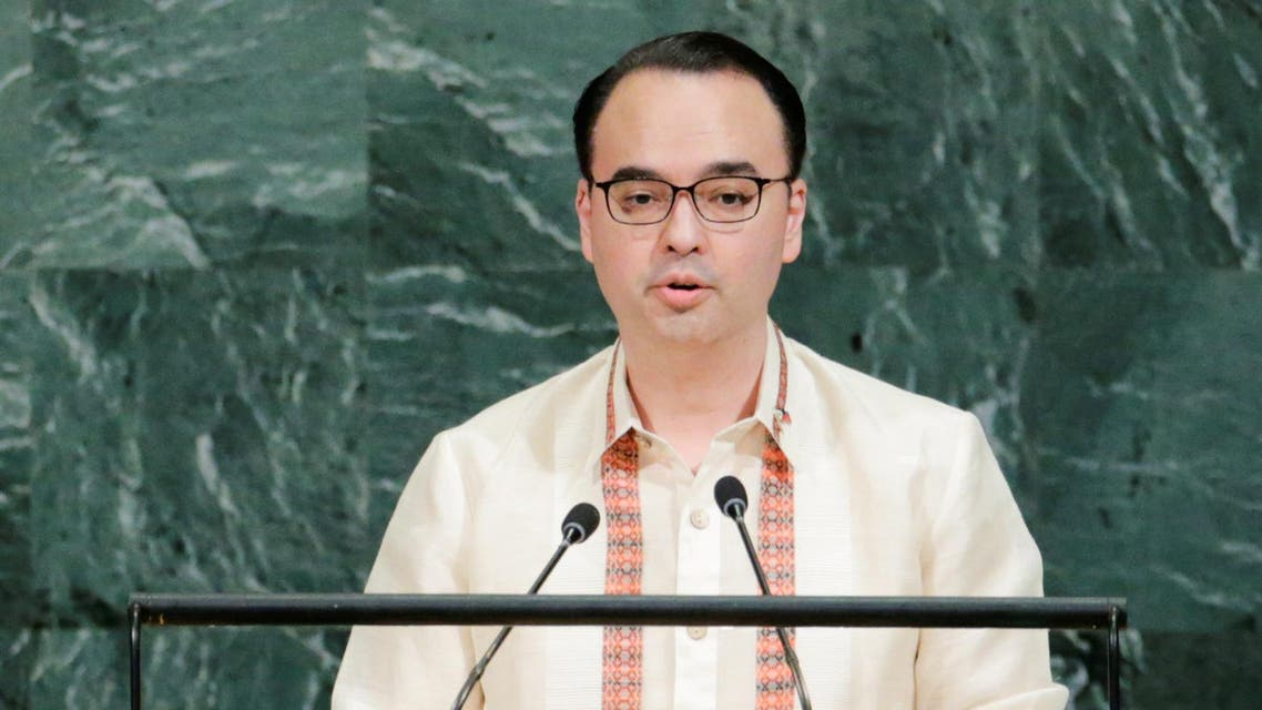 Philippine Foreign Affairs Secretary Alan Peter Cayetano addresses the 72nd United Nations General Assembly at U.N. headquarters in New York, U.S., September 23, 2017. (Reuters)