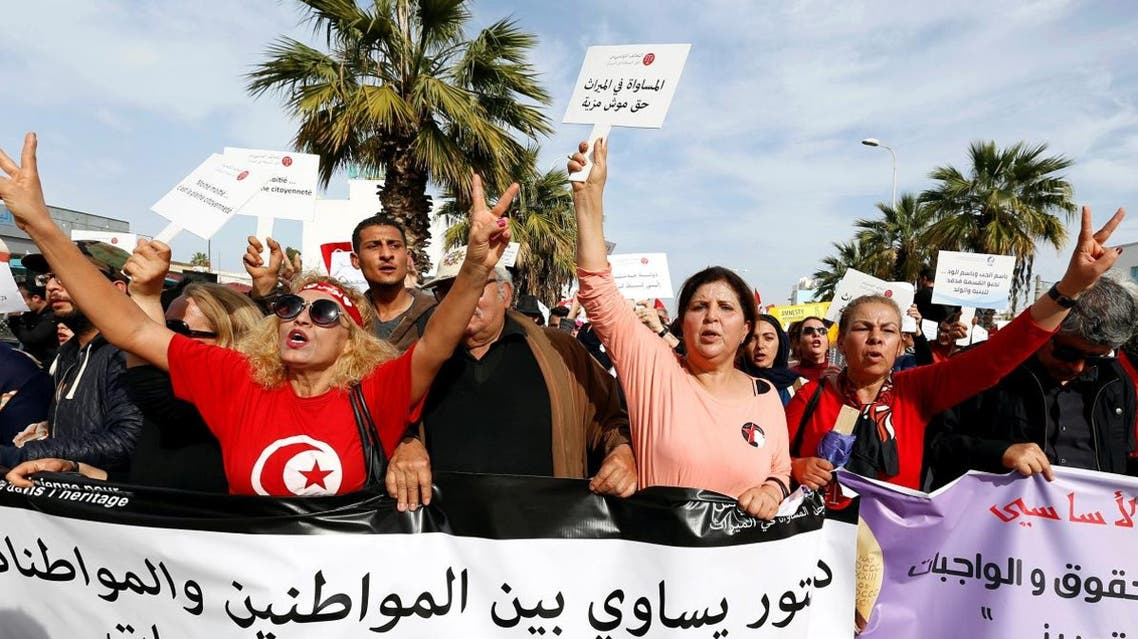 Tunis inheritance protests Reuters