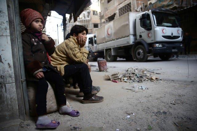 مساعدات تدخل الغوطة