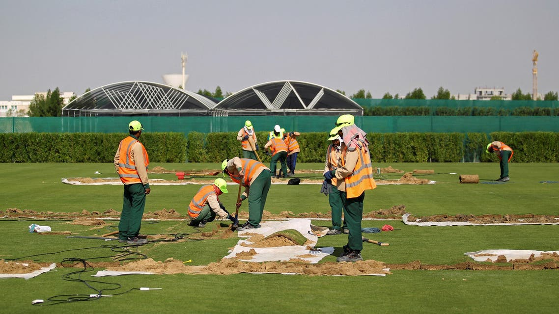 qatar world cup workers. (Reuters)