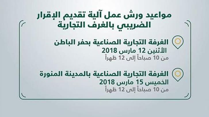 السعودية.. ورش لشرح آلية تقديم إقرارات ضريبة