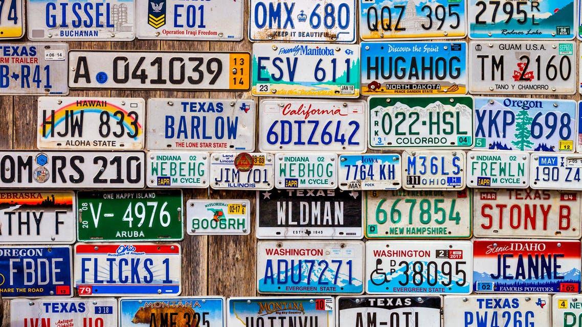 car plates. (Shutterstock)