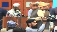 VIDEO: Shoe hurled at Pakistan's former prime minister Nawaz Sharif