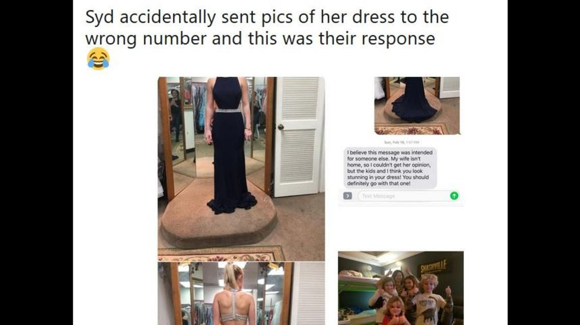 Instead of being ignored, she ended up receiving huge compliments from a big family of strangers. (Twitter)