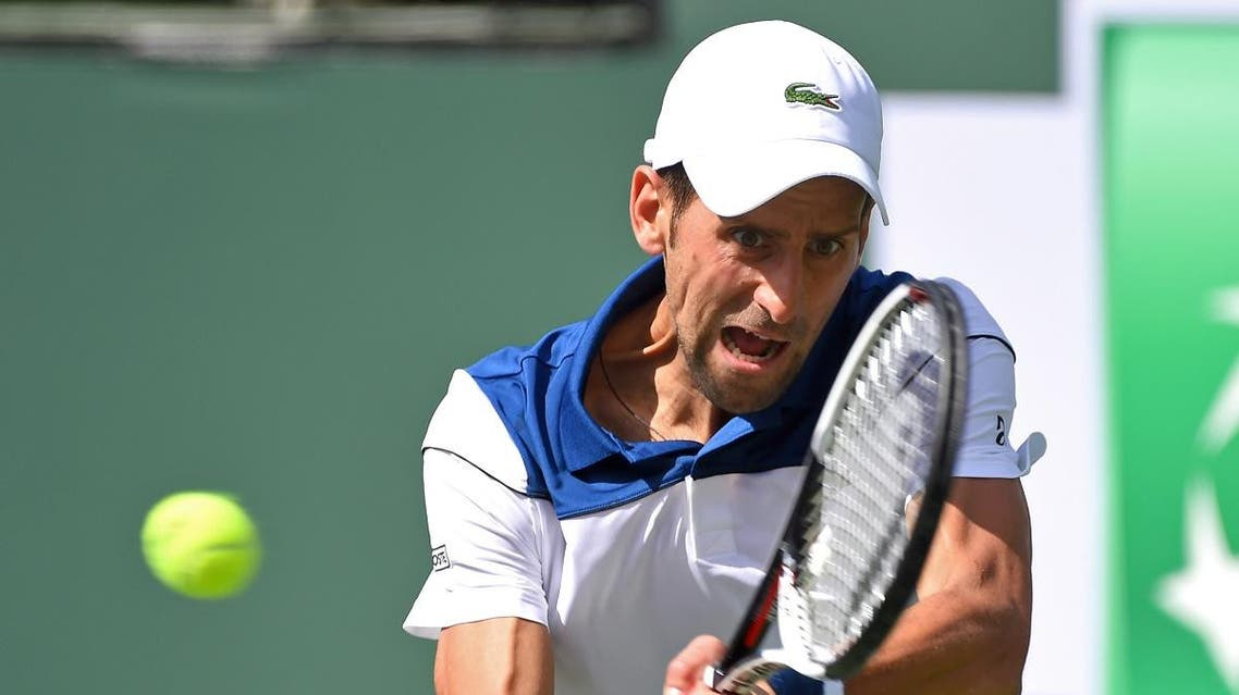 Novak Djokovic (SRB) during his second round match against Taro Daniel (not pictured) in the BNP Paribas Open at the Indian Wells Tennis Garden. Daniel won the match. (Jayne Kamin-Oncea-USA TODAY Sports)