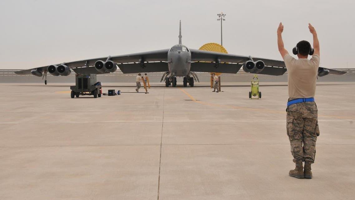 A U.S. Air Force B-52 Stratofortress bomber arrives at Al Udeid Air Base, Qatar. (Reuters)