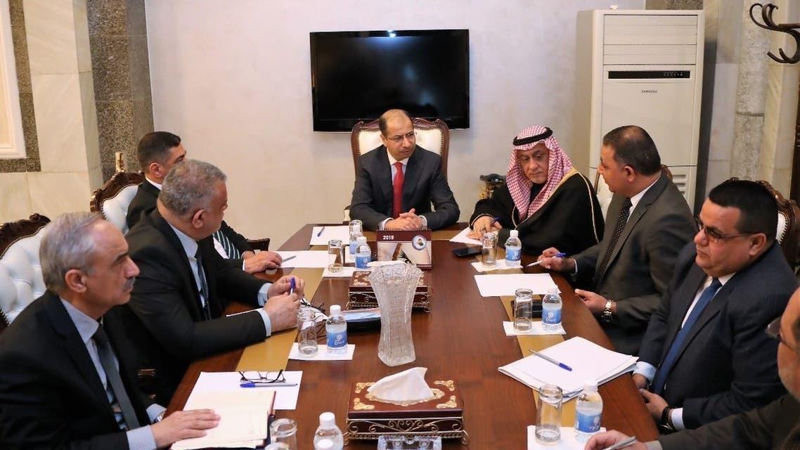 من اجتماع الجبوري اليوم مع أعضاء هيئة المساءلة والعدالة