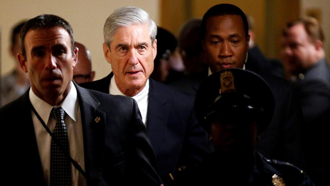 Special Counsel Robert Mueller departs after briefing members of the U.S. Senate on his investigation into potential collusion between Russia and the Trump campaign on Capitol Hill in Washington, US, June 21, 2017. (reuters)