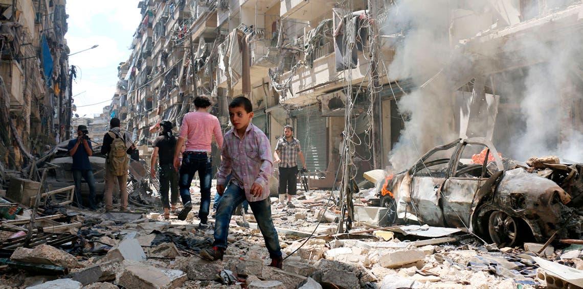 از ویرانی در سوریه