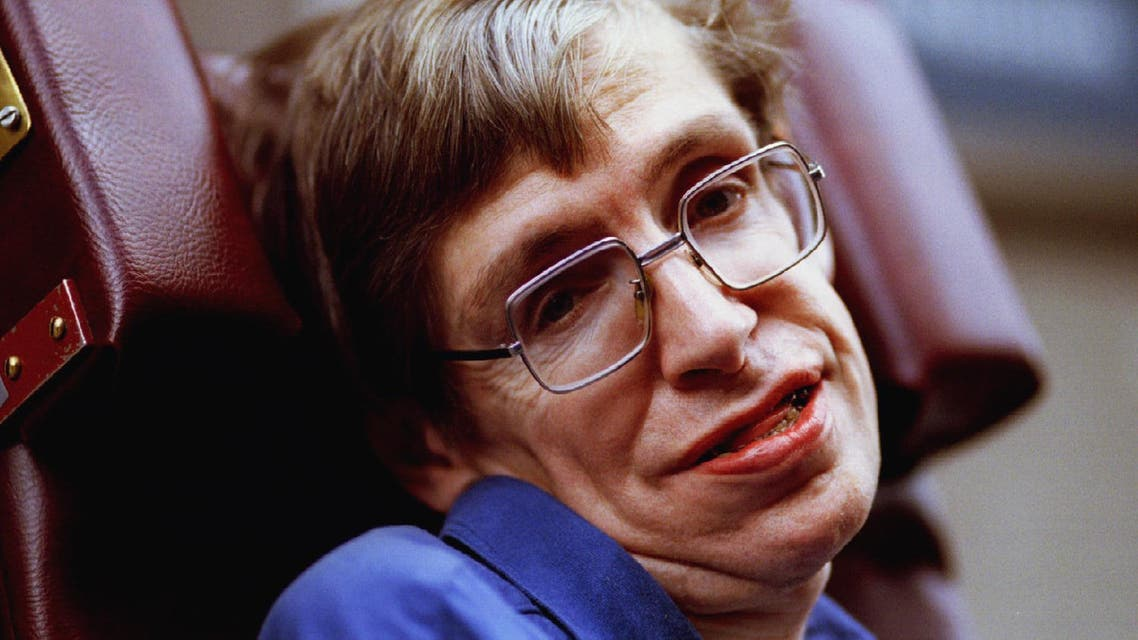 """Professor Stephen Hawking attends the launch of """"Speak to Me"""", an exhibition which explores the role of new technologies in improving communication for the disabled October 4. (Reuters)"""