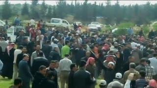 7 سنوات على الثورة السورية.. أول تظاهرة