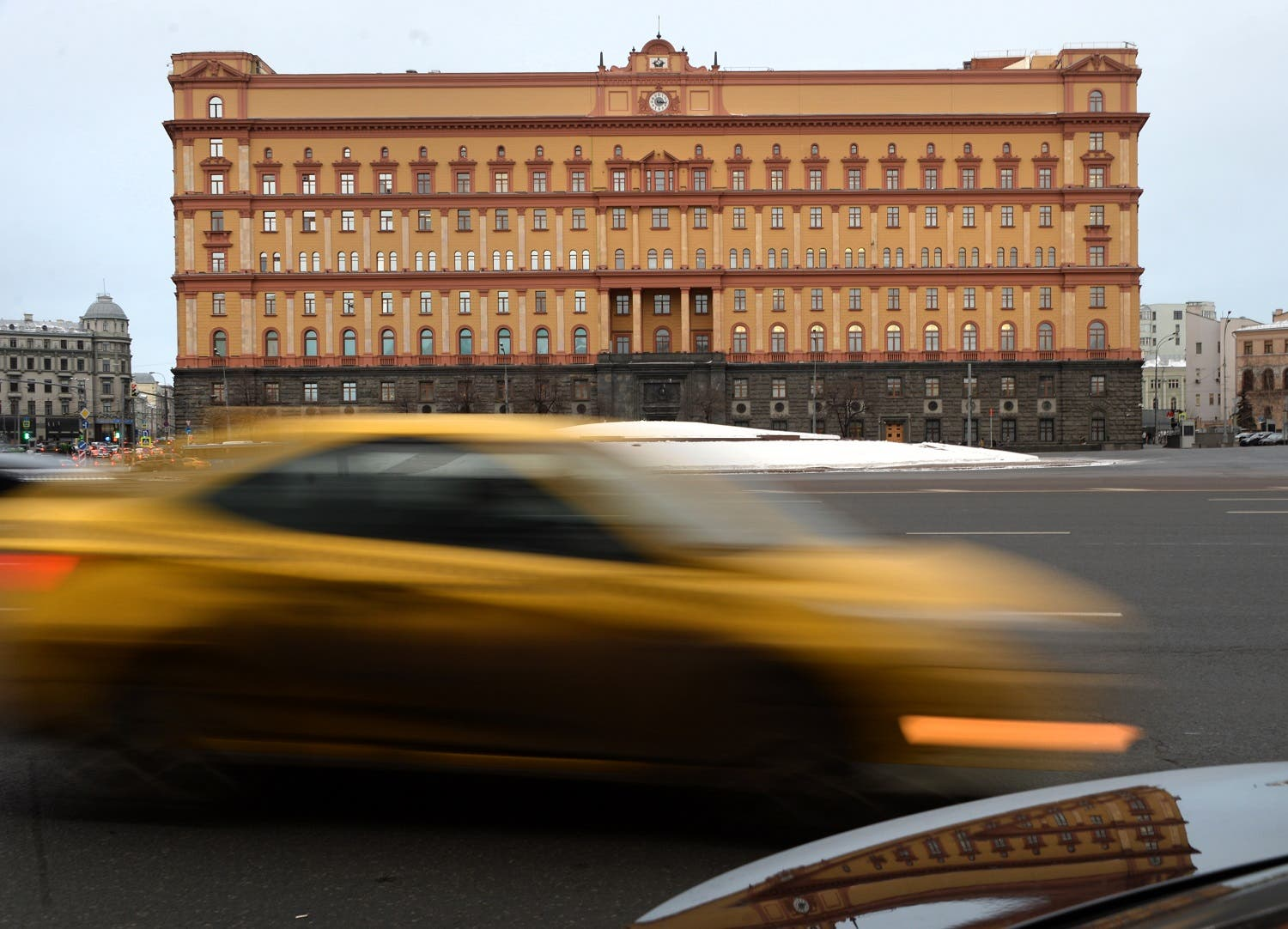 In this file photo taken on December 30, 2016 cars drive past the headquarters of the FSB security service, the successor to the KGB in central Moscow. (AFP)