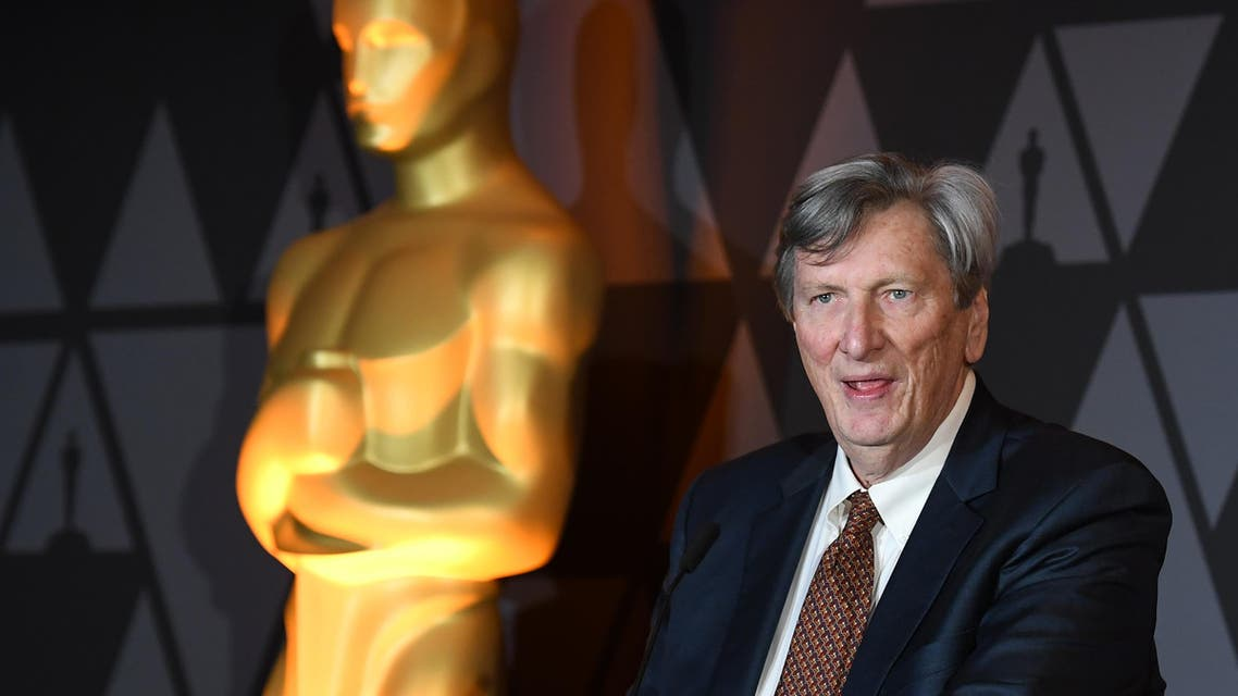 (FILES) This file photo taken on March 2, 2018 shows Academy President John Bailey speaking at the Foreign Language Film Oscar nominees reception sponsored by the Academy of Motion Picture Arts and Sciences in Beverly Hills, California. Academy President John Bailey is subject to an internal investigation following three charges of sexual harassment, accorting to US media reports on March 16, 2019. ANGELA WEISS / AFP