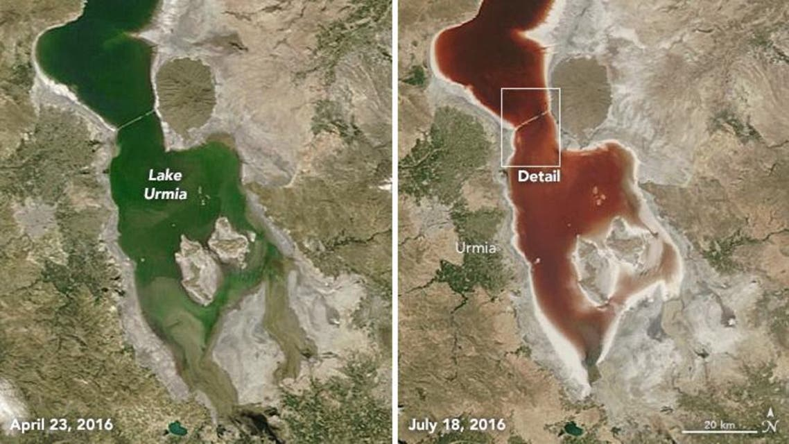 Complete desiccation of the lake may lead to mass migration from the region. (Photo courtesy: NASA)
