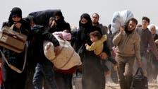 إعلام الأسد: عناصر وعائلات فيلق الرحمن يغادرون الغوطة