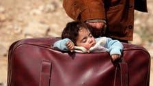 شام کے جھنم زار کے مصیبت زدہ بچوں کے دلخراش مناظر