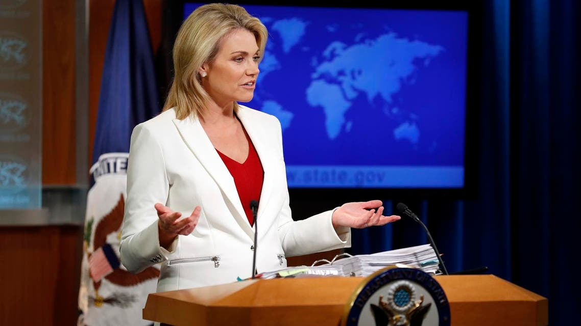 State Department spokeswoman Heather Nauert speaks during a briefing at the State Department in Washington. (File photo: AP)