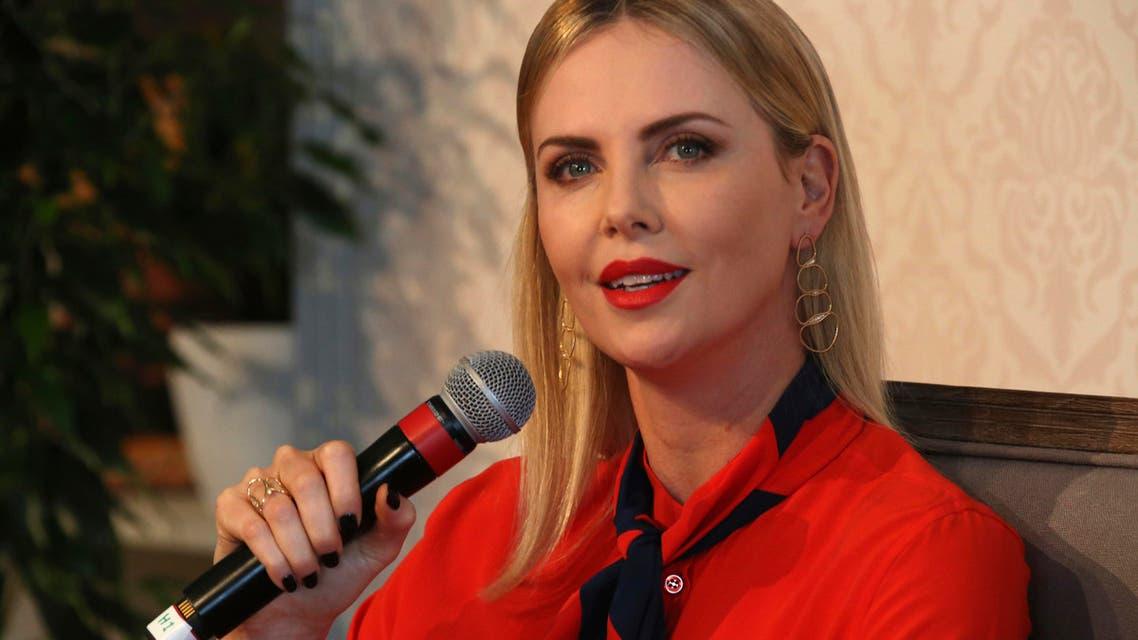 Charlize Theron Dubai forum. (AP)