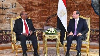 الرئيس المصري عبدالفتاح السيسي والرئيس السوداني عمر البشير
