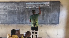 Blackboard used as PC substitute in Ghana school sparks Saudi donations campaign