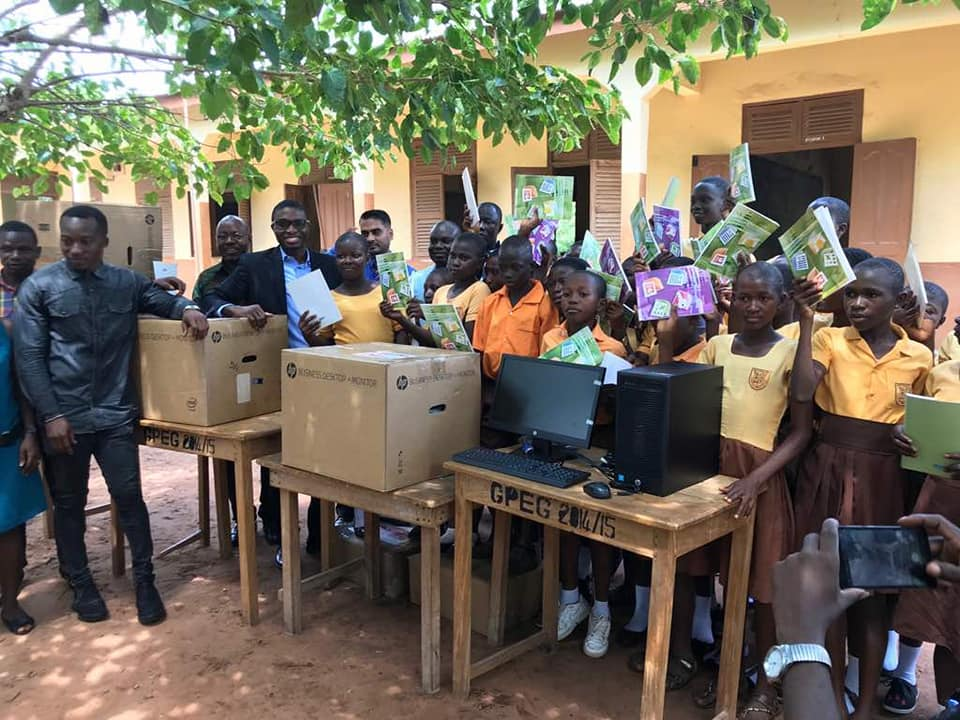 Ghana teacher laptop. (Facebook)