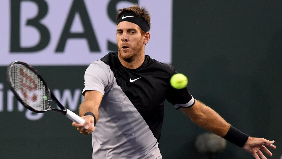 Juan Martin Del Potro (ARG) during his fourth round match against Leonardo Mayer (not pictured) in the BNP Paribas Open at the Indian Wells Tennis Garden. (Jayne Kamin-Oncea-USA TODAY Sports)