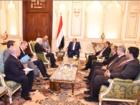 جانب من لقاء الرئيس هادي بالمبعوث الأممي الجديد