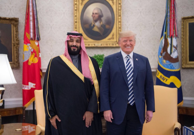 الأمير محمد بن سلمان  والرئيس ترمب