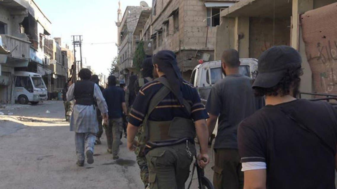 مقاتلون من داعش في حي القدم (أرشيفية)