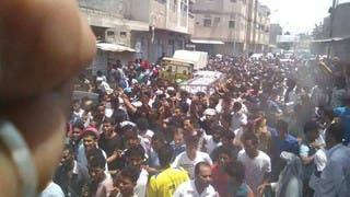 تشييع اللاعب البزاز في الحديدة تتحول إلى تظاهرة غضب ضد الحوثيين