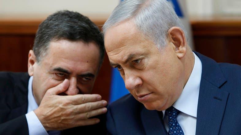 وزير المخابرات الإسرائيلي إسرائيل كاتس (يساراً) مع نتنياهو