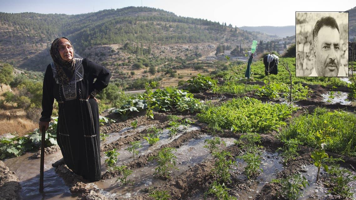 الصحافي حسن مصطفى في الإطار وصورة لموقع بتير الأثري