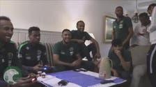 """لاعبو الأخضر يقضون أوقات فراغهم بلعب """"فيفا 18"""""""