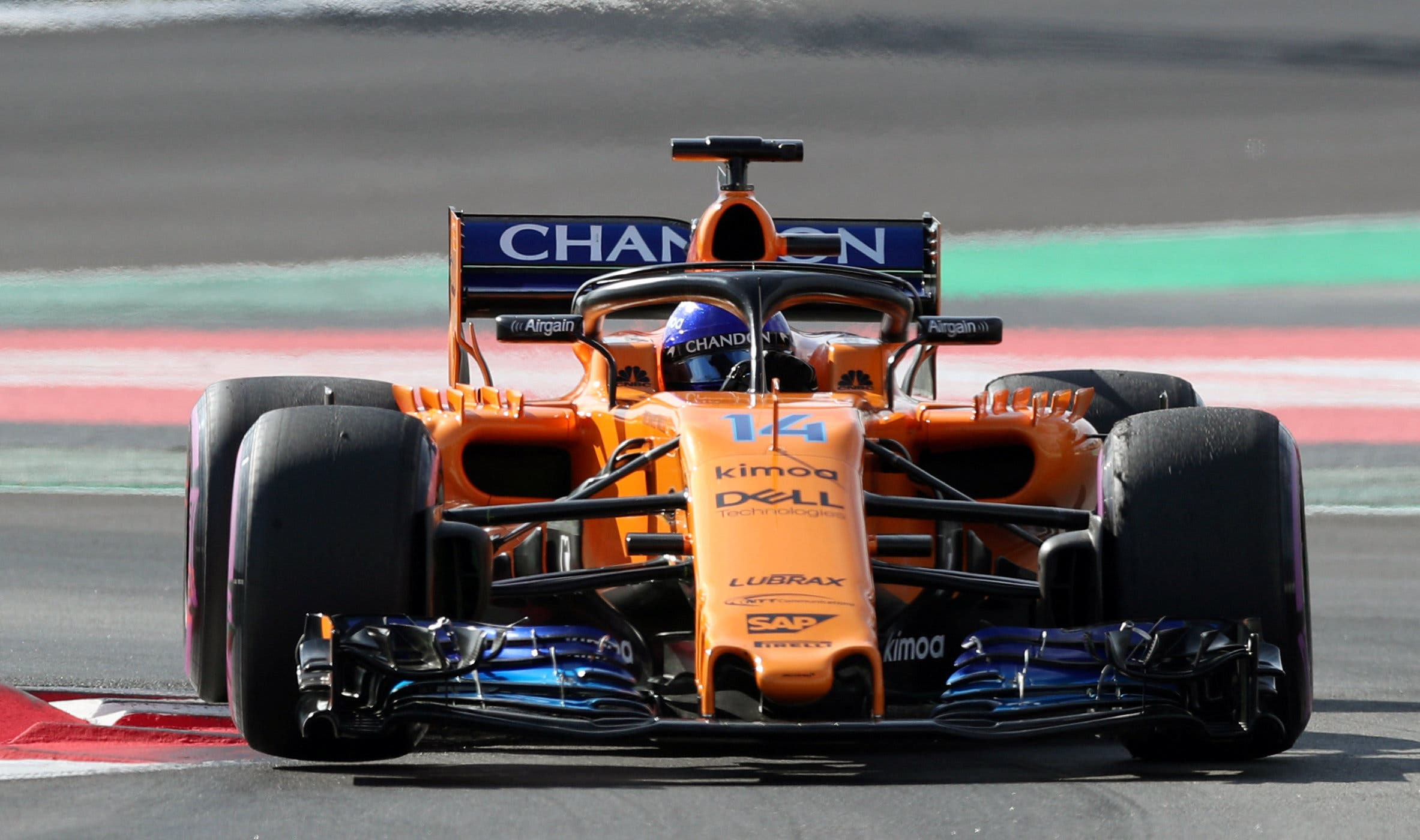 Fernando Alonso of McLaren during testing. Picture taken March 9, 2018. (Reuters)