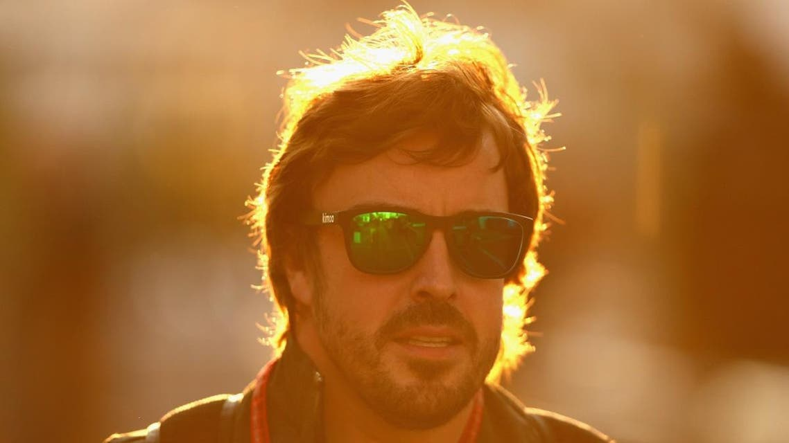Fernando Alonso of Spain and McLaren Honda arrives at the circuit before final practice for the Formula One Grand Prix of Mexico. (AFP)