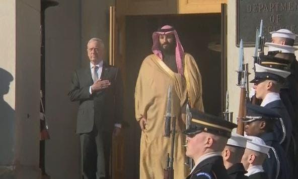 وزير الدفاع الأميركي استقبل ولي العهد السعودي في مقر البنتاغون