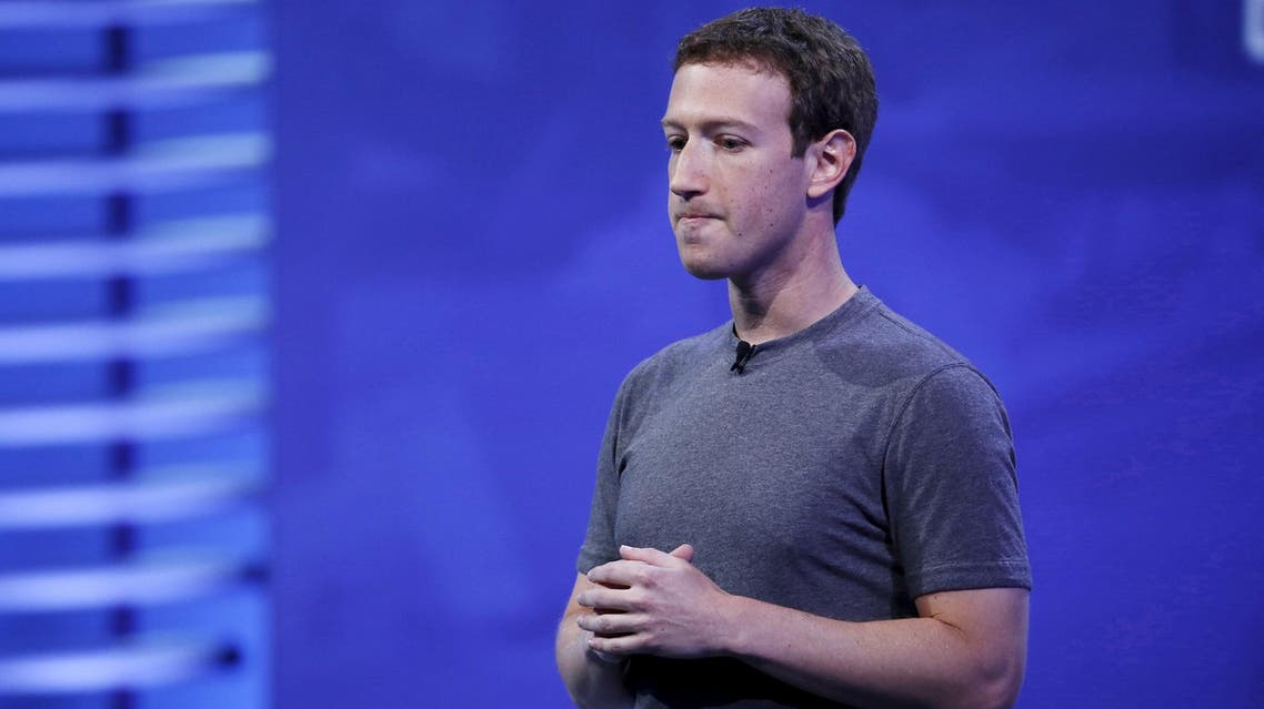 Mark Zuckerberg during the Facebook F8 conference in San Francisco on April 12, 2016. (Reuters)