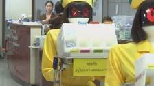 بنکاک کے ایک ہسپتال میں چینی کمپنی کے تیار کردہ روبوٹ نرسیں متعارف