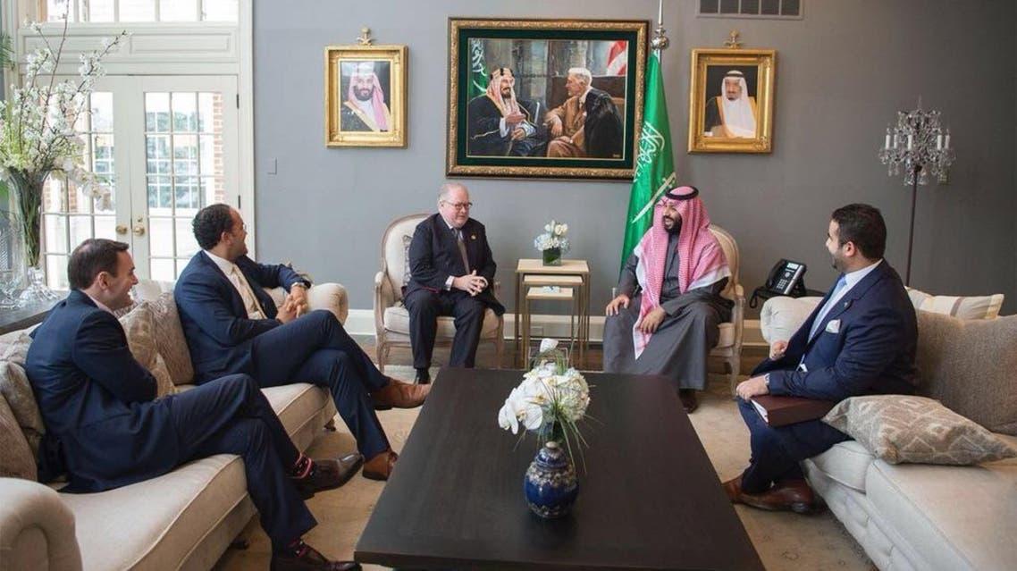 ولي العهد يلتقي أعضاء من الحزبين الجمهوري والديمقراطي