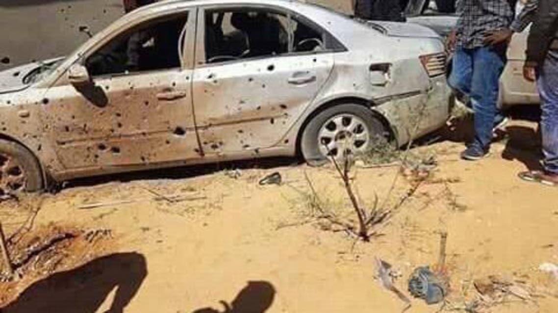 من مكان الغارة في أوباري جنوب ليبيا