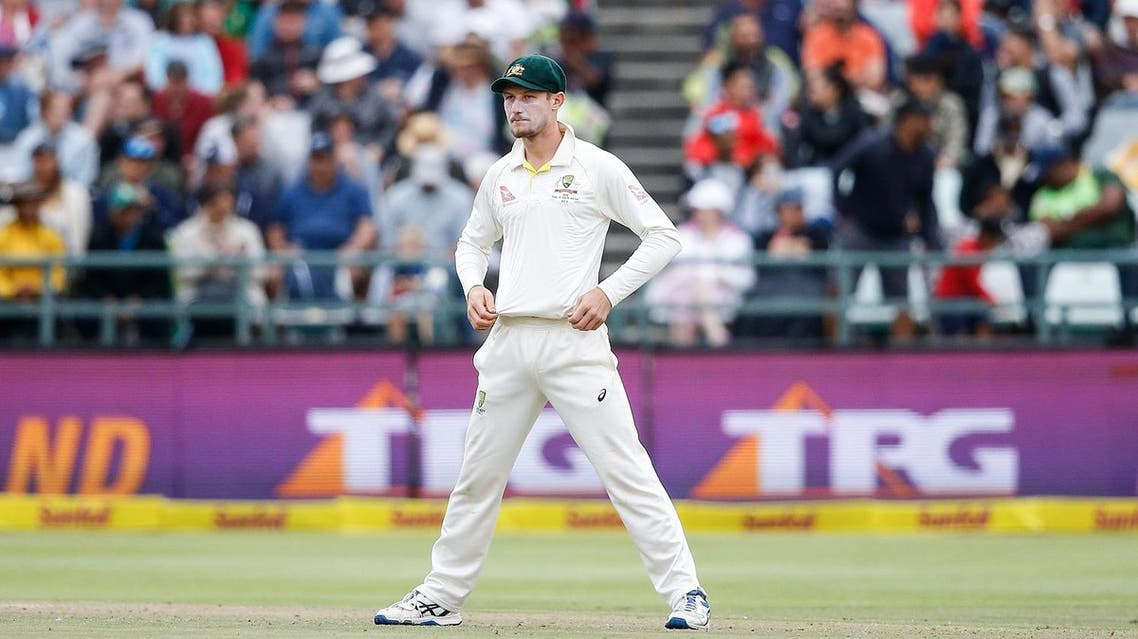 Australian fielder Cameron Bancroft stands by during the third day of the third Test cricket match between South Africa and Australia at Newlands cricket ground on March 24, 2018 in Cape Town. (AFP)