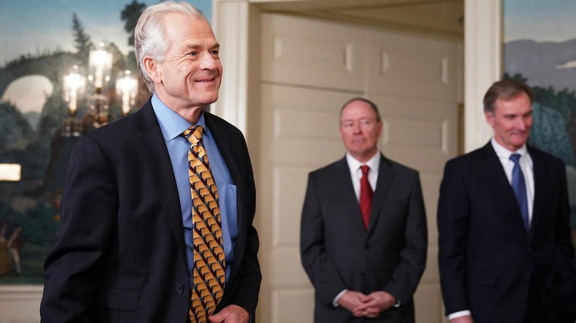 Director of Trade and Industrial Policy Peter Navarro arrives before US President Donald Trump signed trade sanctions against China in the Roosevelt Room of the White House on March 22, 2018. (AFP)