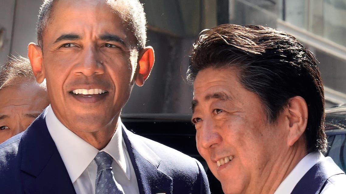 أوباما مع رئيس الوزراء الياباني في طوكيو