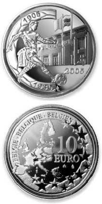 القطعة النقدية تظهر نقش الملعب خلف اللاعب