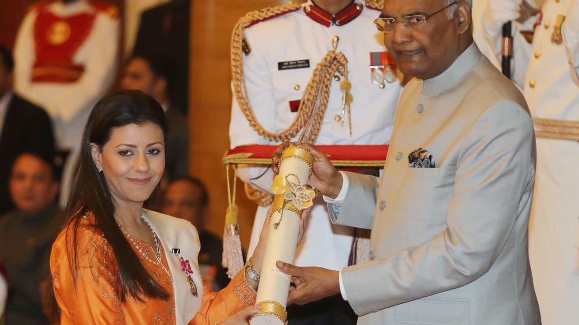 Nouf marwaai yoga award india. (AFP)