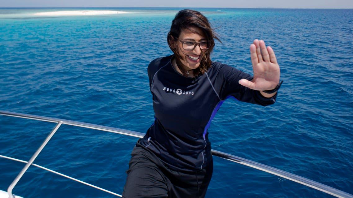 Saudi scubadiver red sea. (AP)