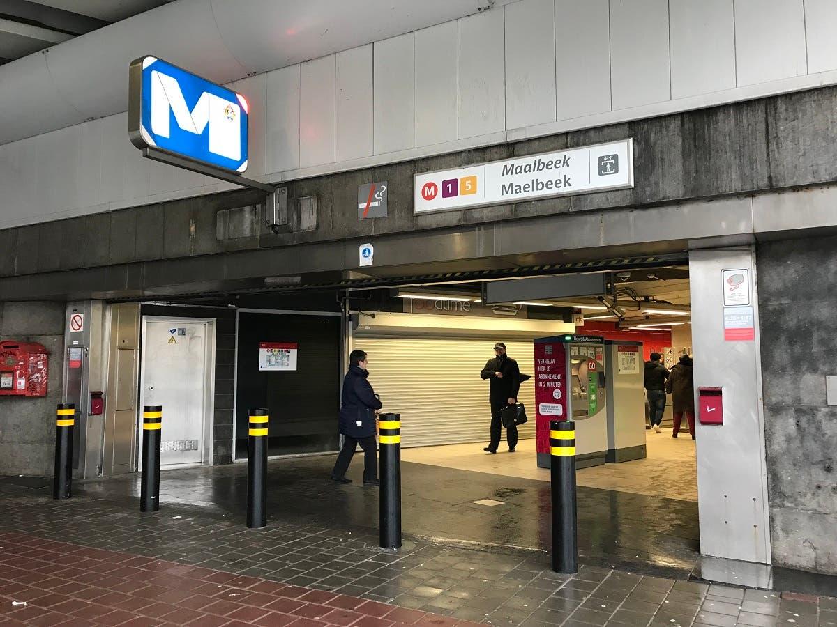 Maelbeek metro station on Thursday, March 22. (Al Arabiya English)