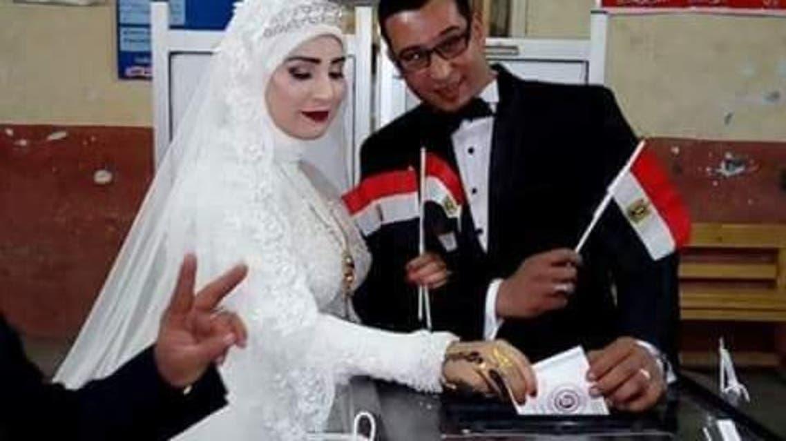 حفلات زفاف واحتفالات أمام لجان انتخابات رئاسة مصر